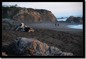 Felsen-Strand-Meer