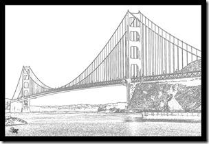 Karikatur-Golden-Gate