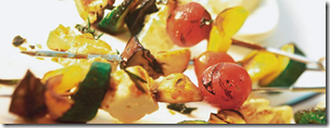 Gemüsespieße mit Schafskäse