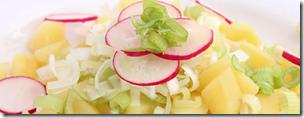 Kartoffelsalat mit Radieschen und Rucola