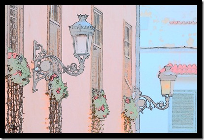 Weihnachtsdeko-Zeichnung