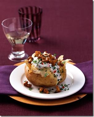Ofenkartoffel mit Pfifferlingen